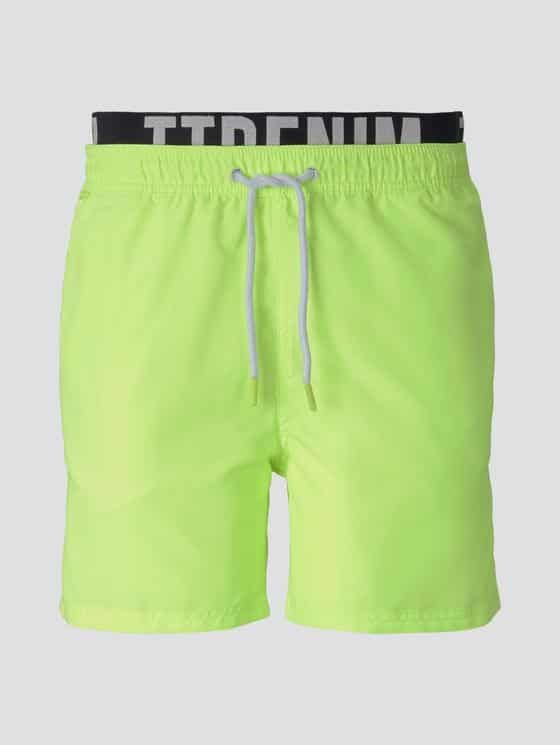 Tom Tailor Zwemshort Geel band