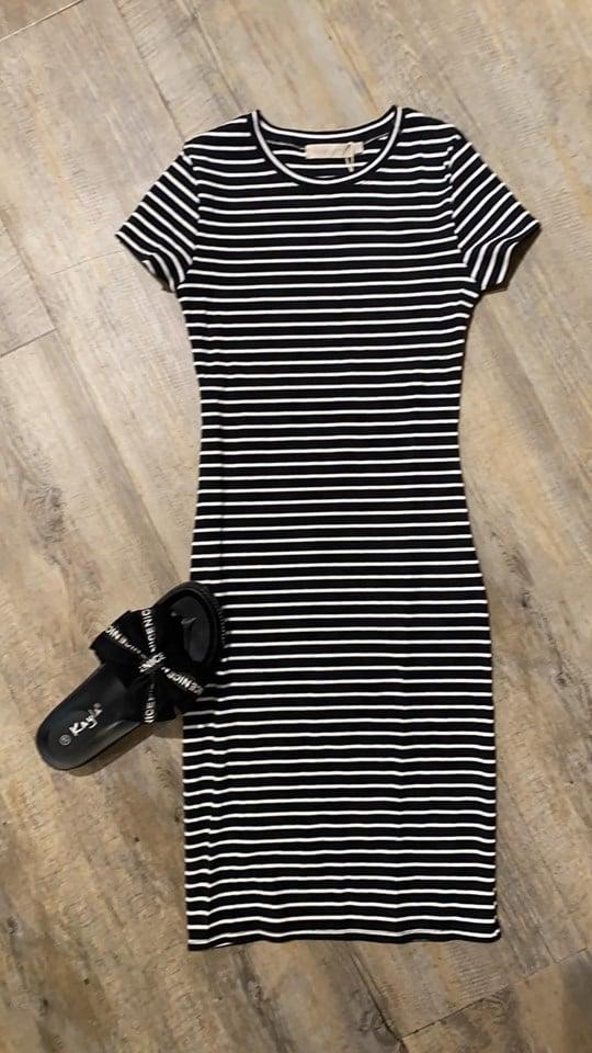 jurk Zwart Streep