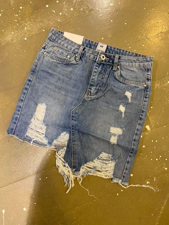 Spijkerrok Damaged 7238