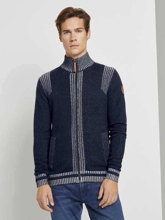 Tom Tailor Vest Donkerblauw