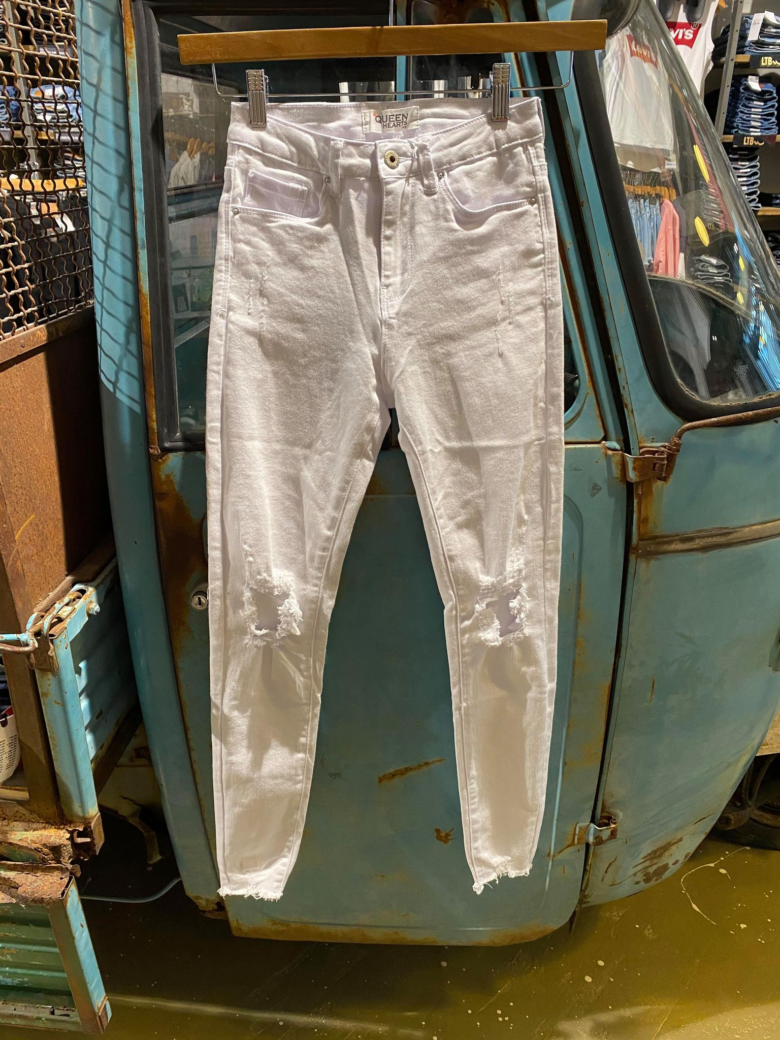 JEANS –  Q020 QUEENHEART – WIT
